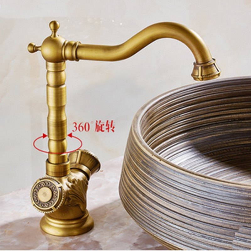 Modern Swivel Single Hole Antique Brass Bathroom Sink Mixer Faucet Vanity  Tap China  Mainland. Online Buy Wholesale modern bathroom sinks vanities from China