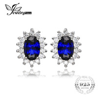Fairy Charm Delicate Hot SALE Sapphire Princess Style Earrings Studs 925 Sterling Silver Free Shipping