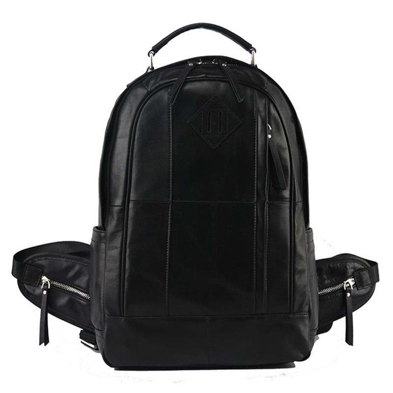 Genuine Leather Backpack Men High Quality Leather Travel Backpacks Man Vintage Big Casual School Shoulder Bags Rucksack