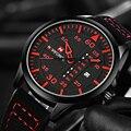 Naviforce fecha de la marca de lujo del movimiento de japón de los hombres reloj de cuarzo ocasional militar del ejército reloj deportivo relojes de los hombres reloj de cuero masculino