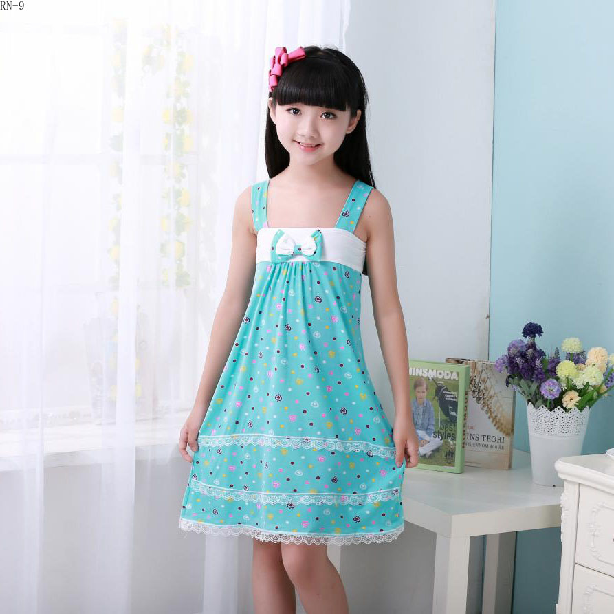 Fashion Children Clothing 2019 Sling Nightgown Kids Princess Sleep Girls Summer Sleepwear Sleeveless Baby Nightdress Homewear