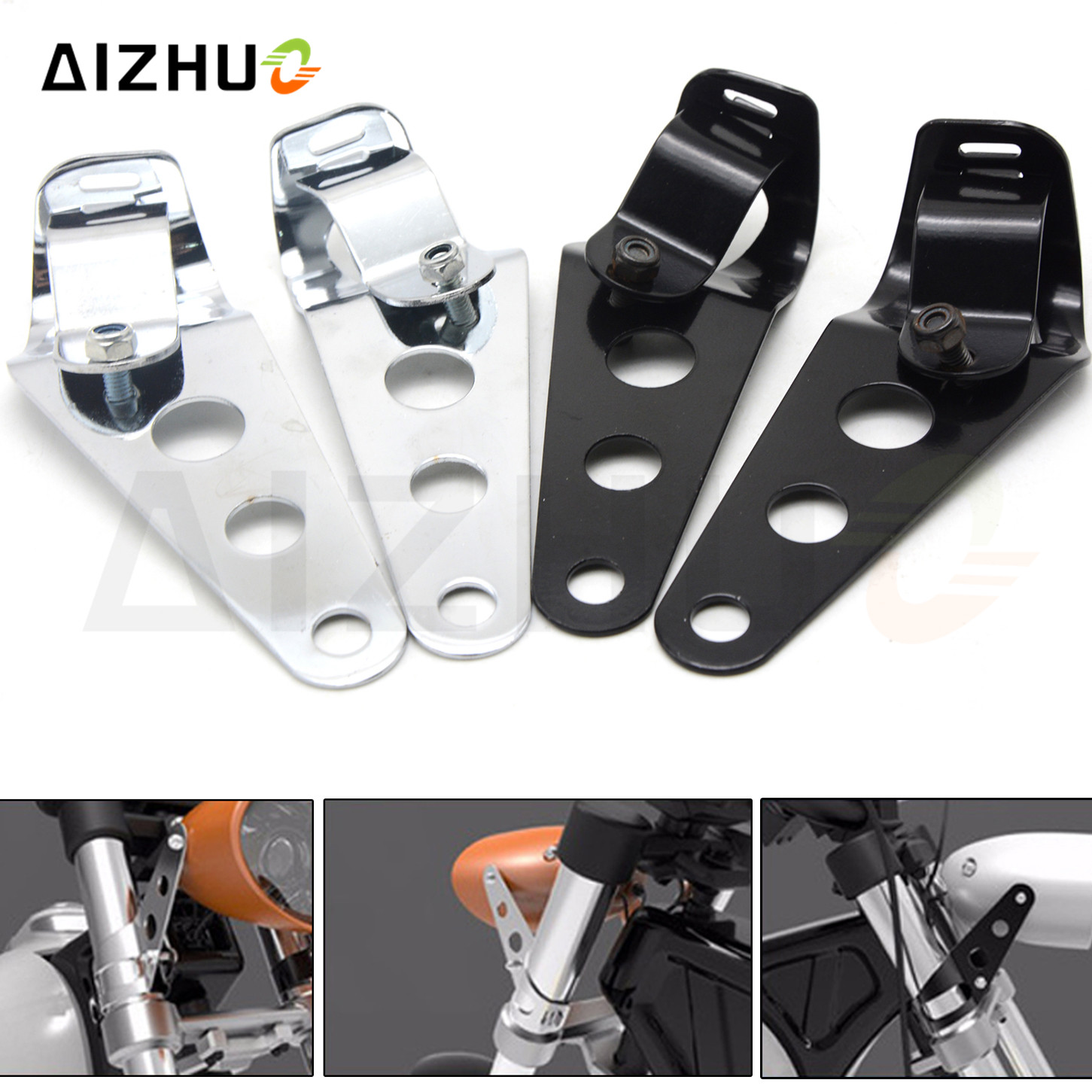 35mm 43mm Fork Chopper Motorcycle Accessories Cafe Racer Headlight Bracket For Bmw F650GS 700GS F800GS F800GT F800R F800S F800ST in Covers Ornamental Mouldings from Automobiles Motorcycles