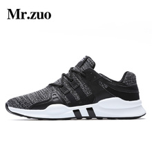 Mr. zuo marca hombres Zapatillas para correr malla transpirable masculino Zapatos Encaje up sneakers mens gimnasio Zapatos adultos tenis masculino tamaño grande 39-46