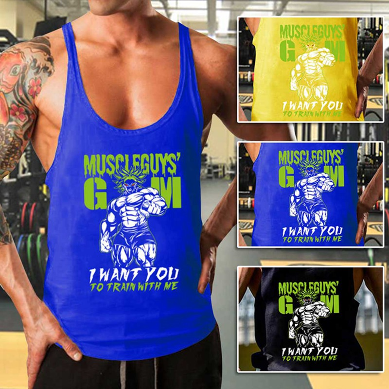 New Bodybuilding Tank Top Men Gyms Stringer Fitness Gyms Shirt Brand Clothing Muscle Workout Cotton  2019