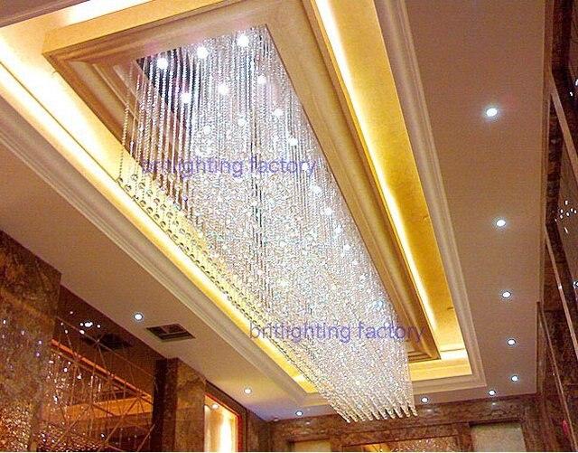 Grande albergo lampadario di cristallo di illuminazione progetto a
