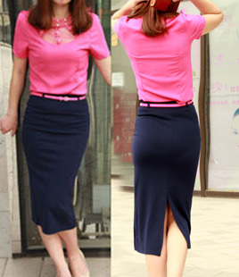 c29ac4108e Hot selling 2013 summer new arrival fashion candy color slim cotton pencil  skirt women's quality medium