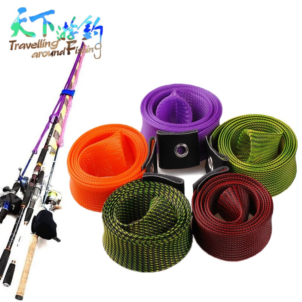 3Pcs 5Colors 170cm Fishing Rod Sleeve Protective Cover Protector For Spinning/Casting Rod Magic Sheath Pole Glove Clothes Tackle