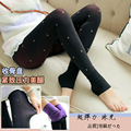 Hot Autumn Winter with Soft Nap Women Women's Female Ladies Print Body Shaper Pencil Foot Tights Feet Pants