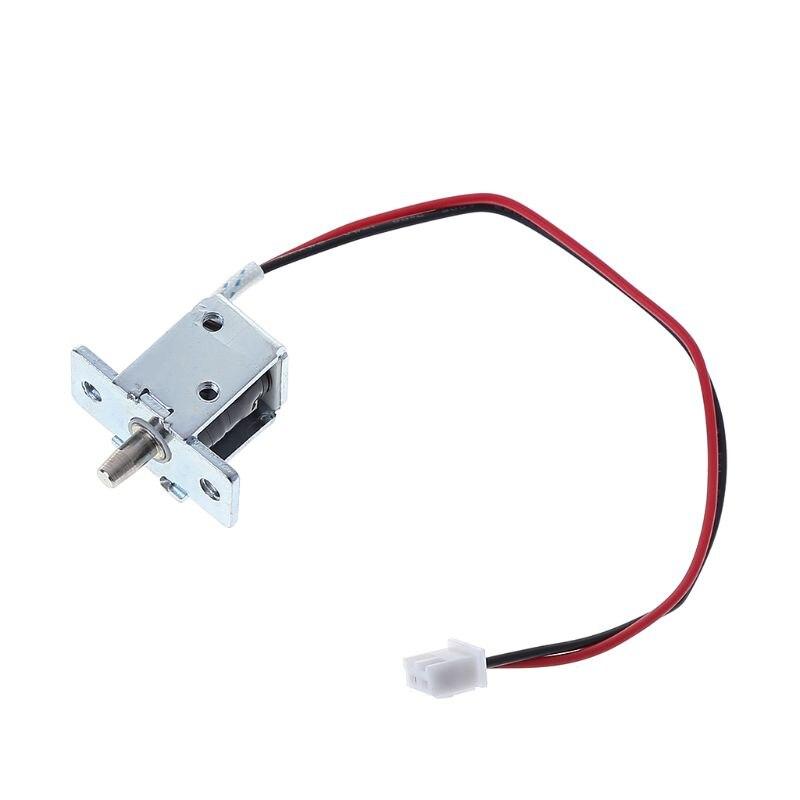 Mini perno de gabinete magnético eléctrico 12V 0.5A conjunto de liberación de bloqueo Push-Pull Control de acceso solenoide