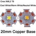 Cree XLamp XML2 XM-L2 T6 10W High Power LED Light Emitter Diode on 20mm Copper PCB,  Cold White, Neutral White, Warm White Color