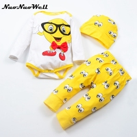 NNW Baby Rompers Long Sleeve Cotton Baby Infant Autumn Bog Eyes Print Newborn Baby Clothes Romper