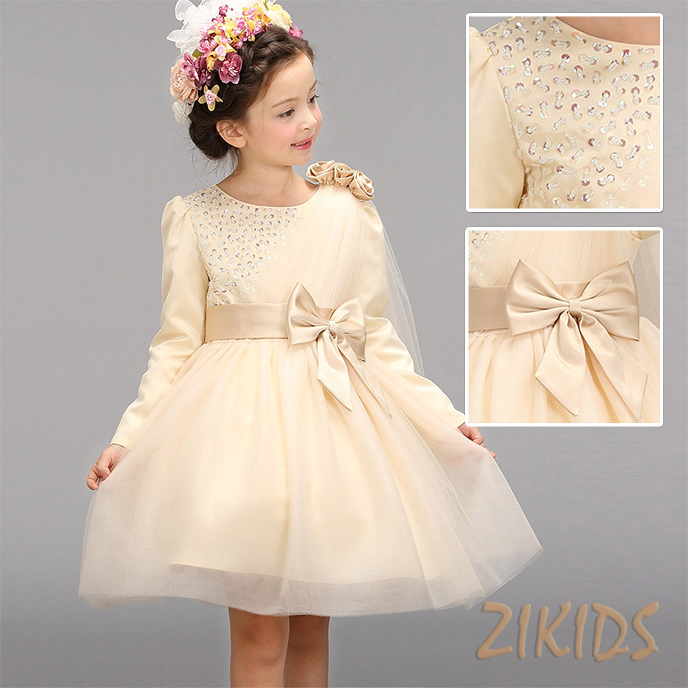 Autumn Luxury Flowers Girls Dresses For Wedding Evening Party Sequined