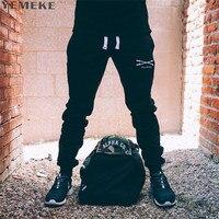 YEMEKE2017 Men Muscle Autumn Winter Sweatpants Men S Quality Fashion Casual Life Trousers Fitness Gyms Long