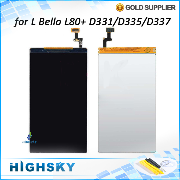 1 piece free shipping replacement part lcd glass with flex cable for LG L Bello L80