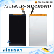 1 piece free shipping replacement part lcd glass with flex cable for LG L Bello L80+ lcd display D331/D335/D337