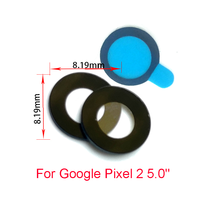 50PcsLot, For Google Pixel 2 XL 5.0 6.0 Back Camera Glass Lens With Glue Repair Parts