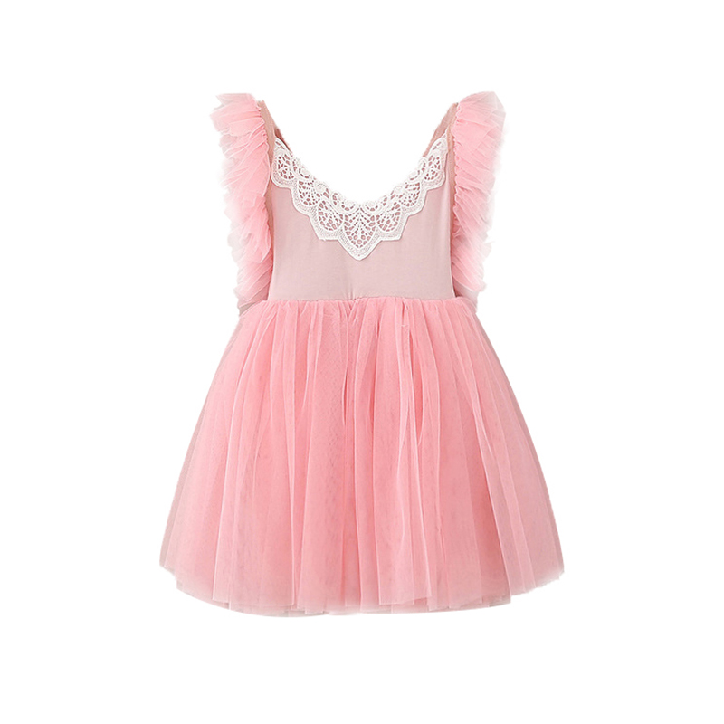 PluckyStar Colorful Lace Princess Girl Dress Kids Dresses For Girls Party Wear Pink White Flower Girl Dresses Summer D21 new summer pink children dresses for girls kids formal wear princess dress for baby girl 3 8 year birthday party dress