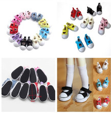 Mini Toy Shoes 1/6 for BJD Doll Shoes for Barbie 5 CM Casual Canvas Shoes  Doll Boots Fashion Dolls Accessories недорого