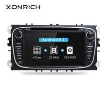 Xonrich Автомобильный мультимедийный плеер Android 8,1 gps Авторадио 2 Din для Ford Focus 2 Mondeo 4 S-Max C-Max Galaxy Kuga транзит Connect