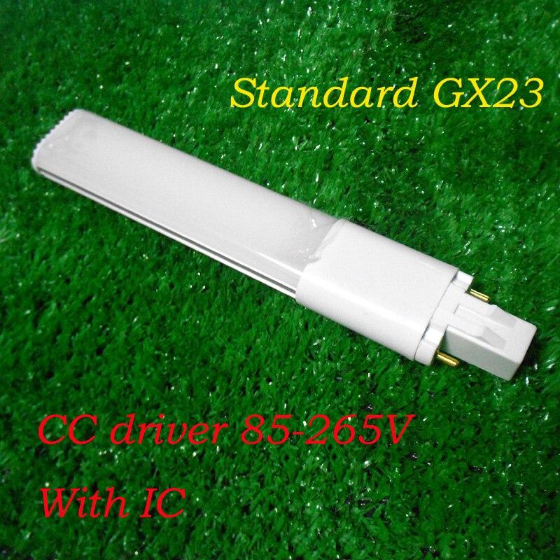 GX23 LED 2 Pin PL Retrofit lámpara 4 W 5 W 6 W 8 W 9 W 10 W G23 CFL reemplazo Horizontal empotrado abajo luz bombilla blanco cálido blanco puro