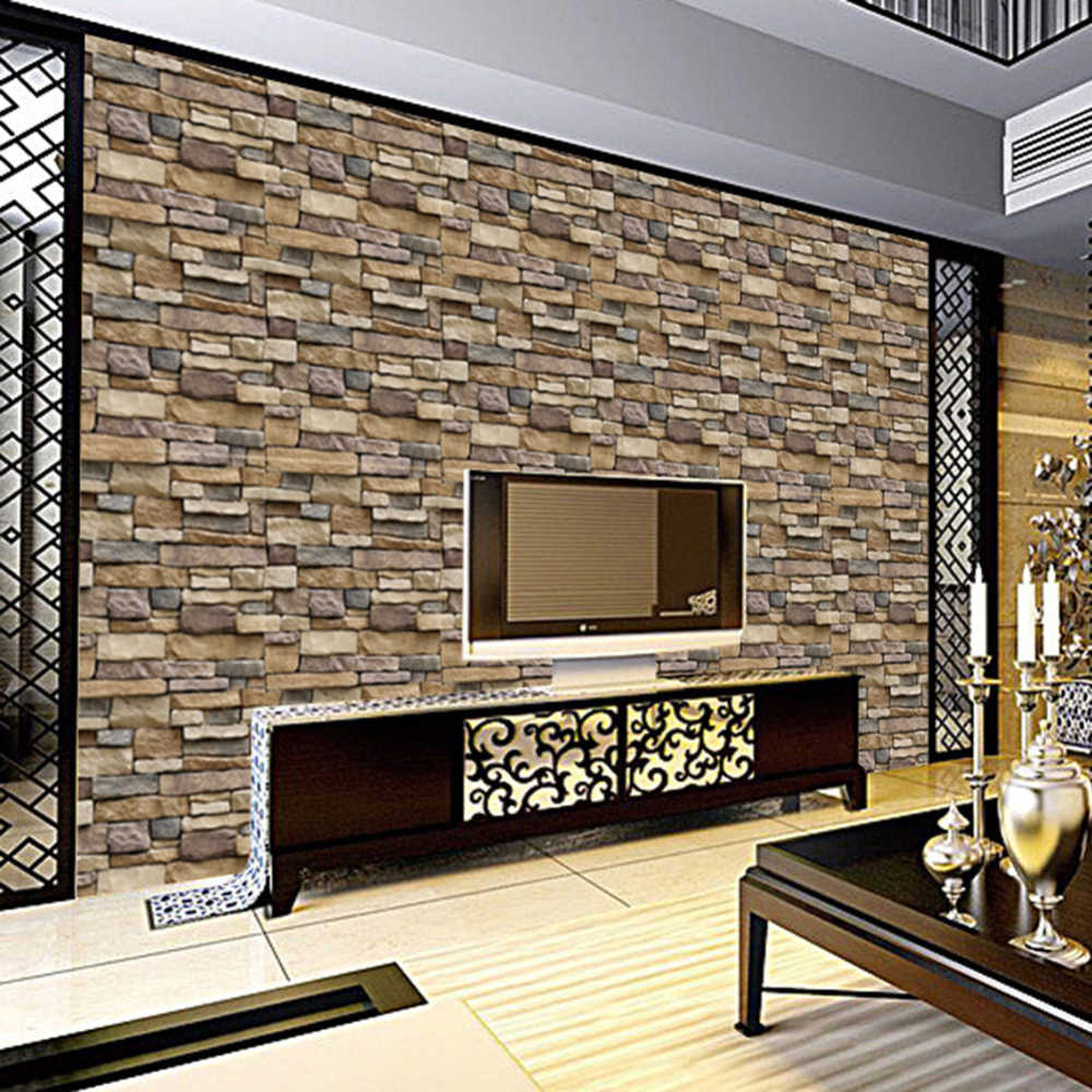 Living Room Brick Stone Wall Papers