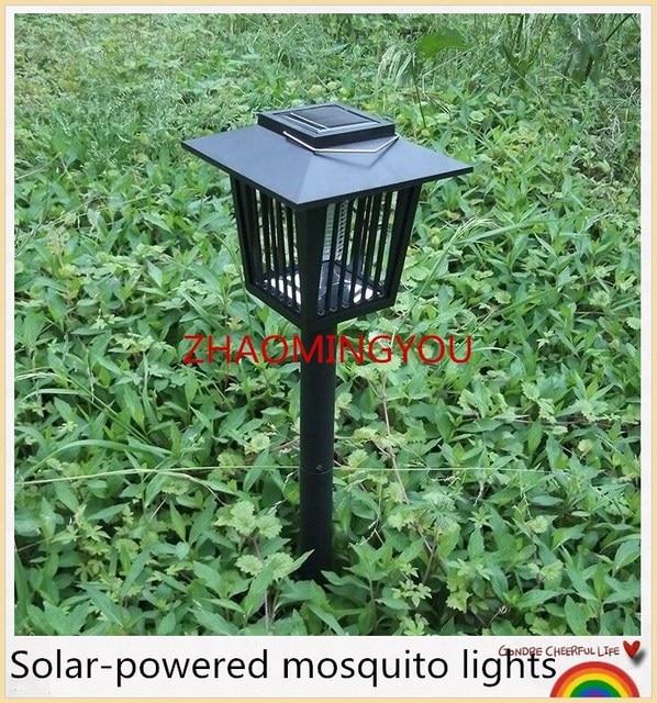 eclairage de jardin solaire 1X Solaire Insecte Ravageur Bug Tueur de Moustique Zapper Lampe Jardin  Pelouse Lumière Moustique Tueur L