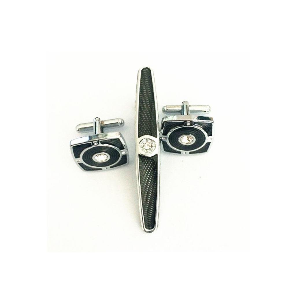 AAB034  New Arrival Factory Store Cufflinks and Tie clips Sets For Men Best Gift Come with a Gift Box