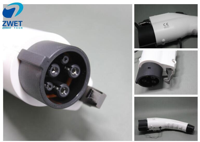 ZWET sae j1772 ev socket plug EVSE Cable Female Plug For EV SAE J1772 16A 240VAC