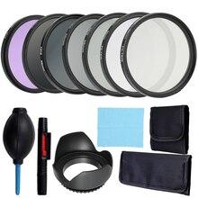 Andoer profesjonalny obiektyw i zestaw filtrów kompletny i kompaktowy zestaw akcesoriów do aparatów fotograficznych 52mm 58mm