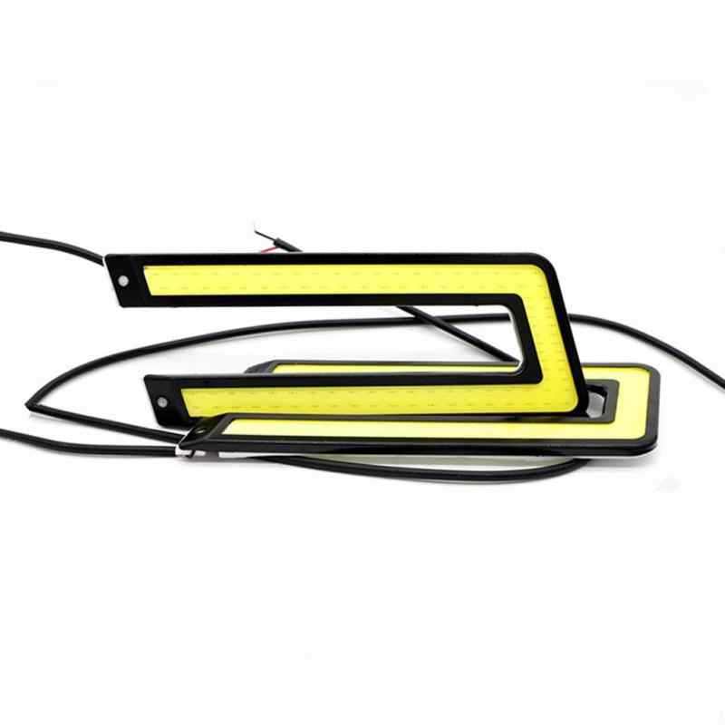 2pcs 14CM Daytime Driving Fog Lights Vehicle Daytime Running Light COB LED Car Lamp External Lights Auto Waterproof Car Styling