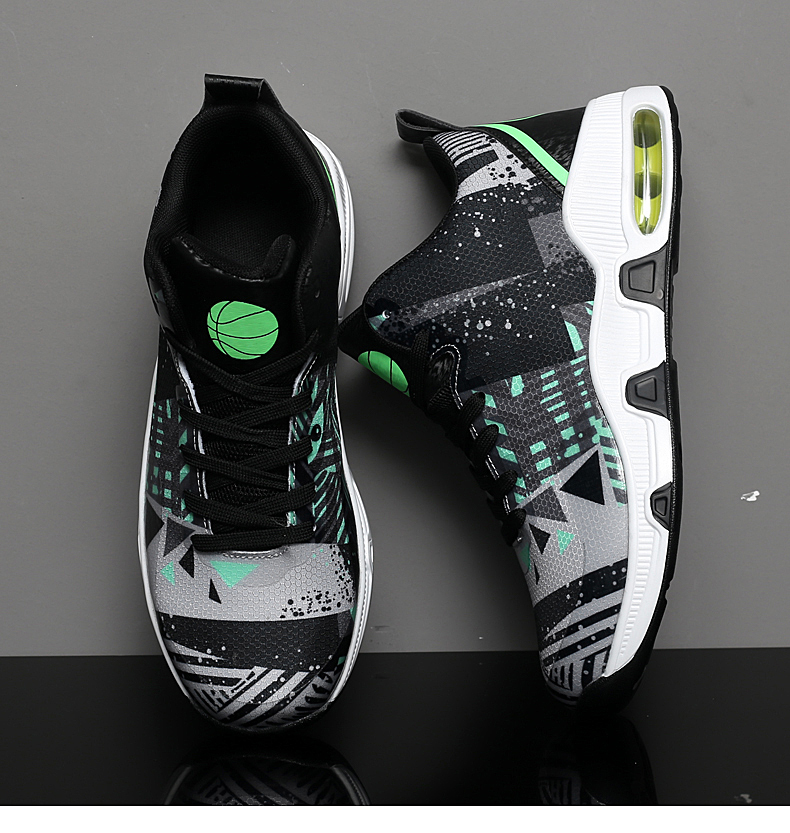 Plus Size 35-46 Sport Fashion Sneakers Women Breathable Geometric Basket Female Men's Casual Shoes Air Cushion Sneakers NX013 (22)