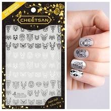 TSC 144 Cheet3san brand CHINA Panda Origami 2018 newest 3d nail art stickers nail decals export