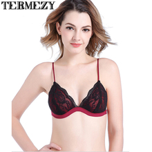 2017 NEW Sexy Women Lace Bra Luxury Cotton Mesh Bralette Lingerie Female Seamless Unpadded Floral Brassiere Intimates Femme