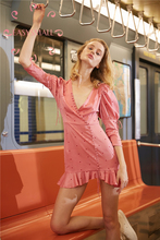 EASYSMALL Women summer dress Fashion Sexy high-end Vestidos  party evening casual High Waist Long Sleeve Plus Size Dresses