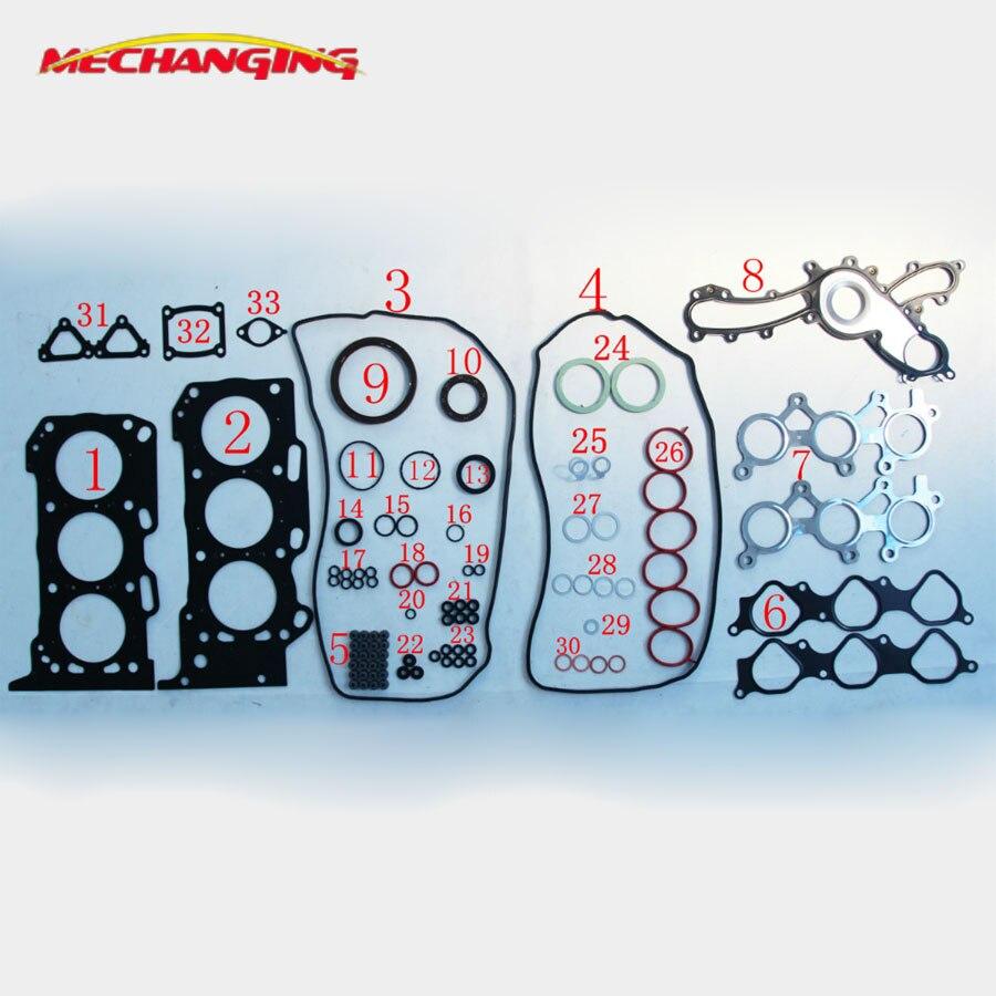 3GRFE 3GR 5GRFE For TOYOTA CROWN GRS182L REIZ GRZ121L Engine Parts Full Set Automotive Spare Parts