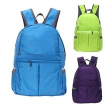 Unisex Folding Travel Bag Ultra-light Multi-pocket Camping Backpack School Bookbag Waterproof Outdoor Hiking Sports Racksack