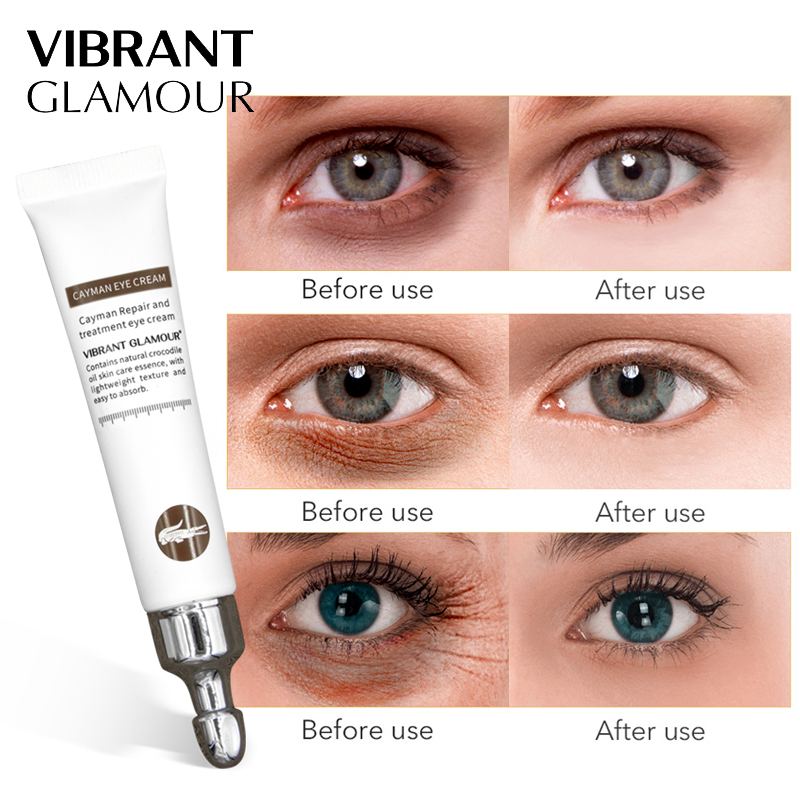 f86f76304da VIBRANT GLAMOUR Crocodile Anti-wrinkle Age Eye Cream Hyaluronic Acid  Essence Eye Serum Remover Dark