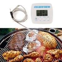 Practical Electronic Digital Timer Alarm Thermometer Kitchen Cooking BBQ Food Meat Probe Thermometer Kitchen Thermometer