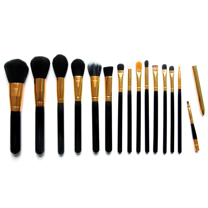 15pcs/Set Pro Women Cosmetic Brushes Set Powder Eyeshadow Foundation Face Blushes New Makeup Beauty Kits Tools 131-1021 mac splash and last pro longwear powder устойчивая компактная пудра dark tan