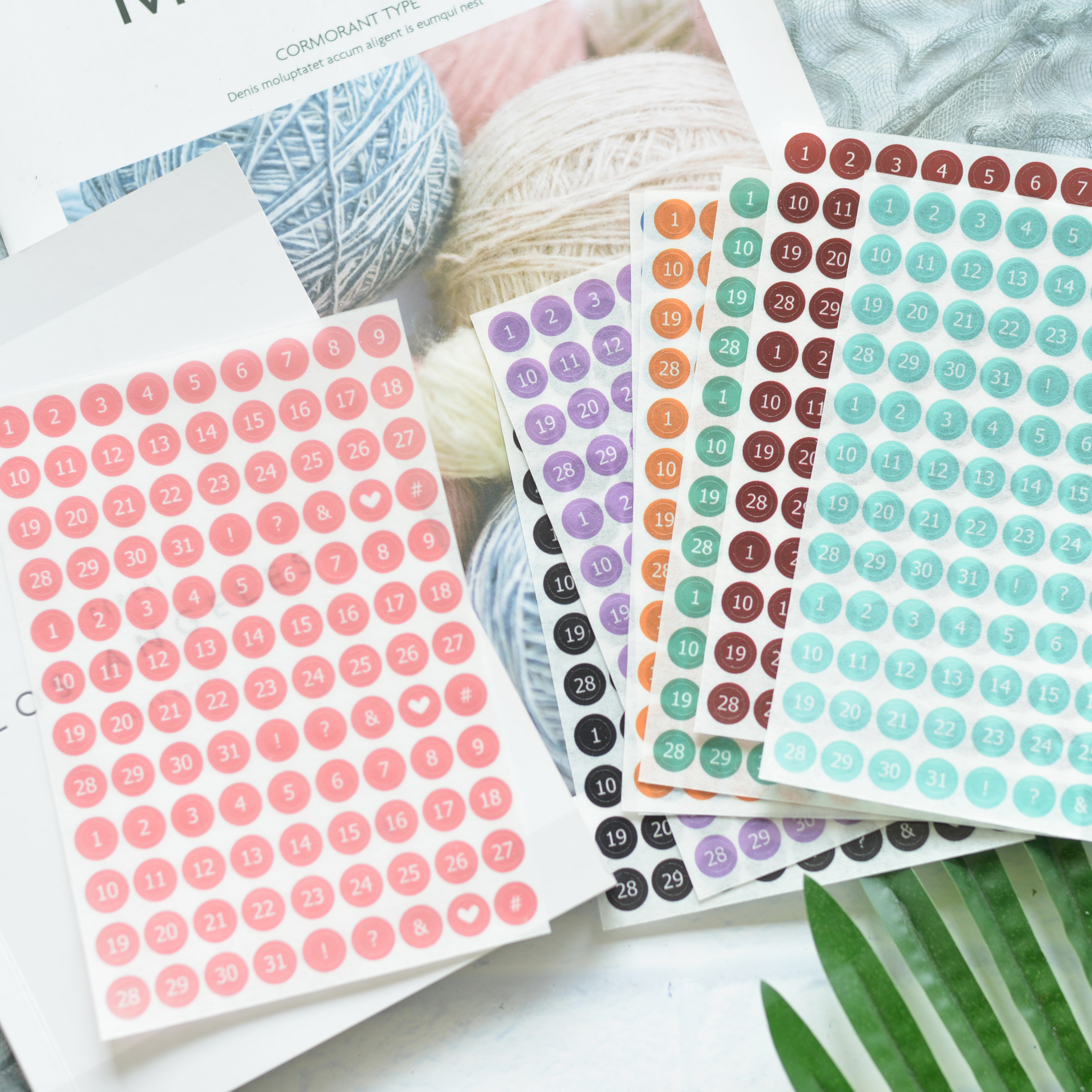8pcs-new-colorful-circle-digital-cute-number-daily-week-plan-basic-decorative-stickers-diy-scrapbooking-planner-diary-stickers