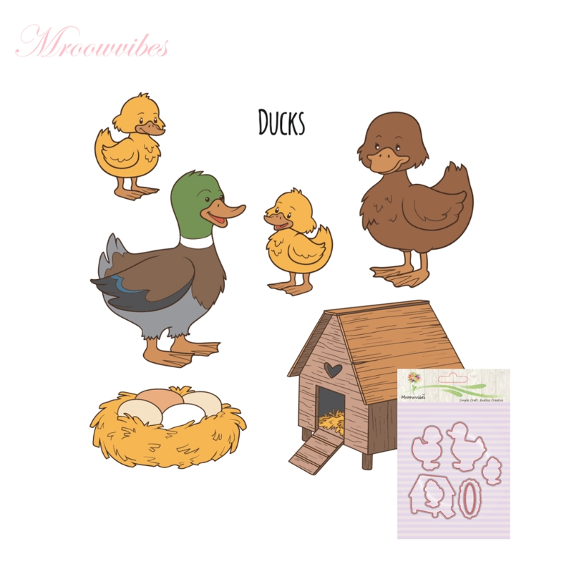 Clear Stamps Scrapbooking Accessories Duck Combination Silicone Stamp Cutting Dies Stencil Frame Scrapbook Album Decor pig silicone clear stamp metal cutting dies stencil frame scrapbook album decor clear stamps scrapbooking accessories