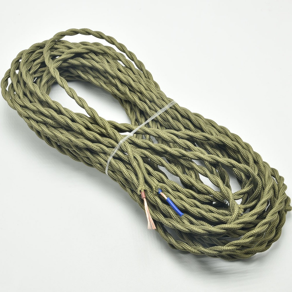2075mm2 Vintage Lamp Cord Textile Wire Retro Edison Pendant Light Wiring A Knot Cable Twisted Electrical 10m Lot In Wires Cables From