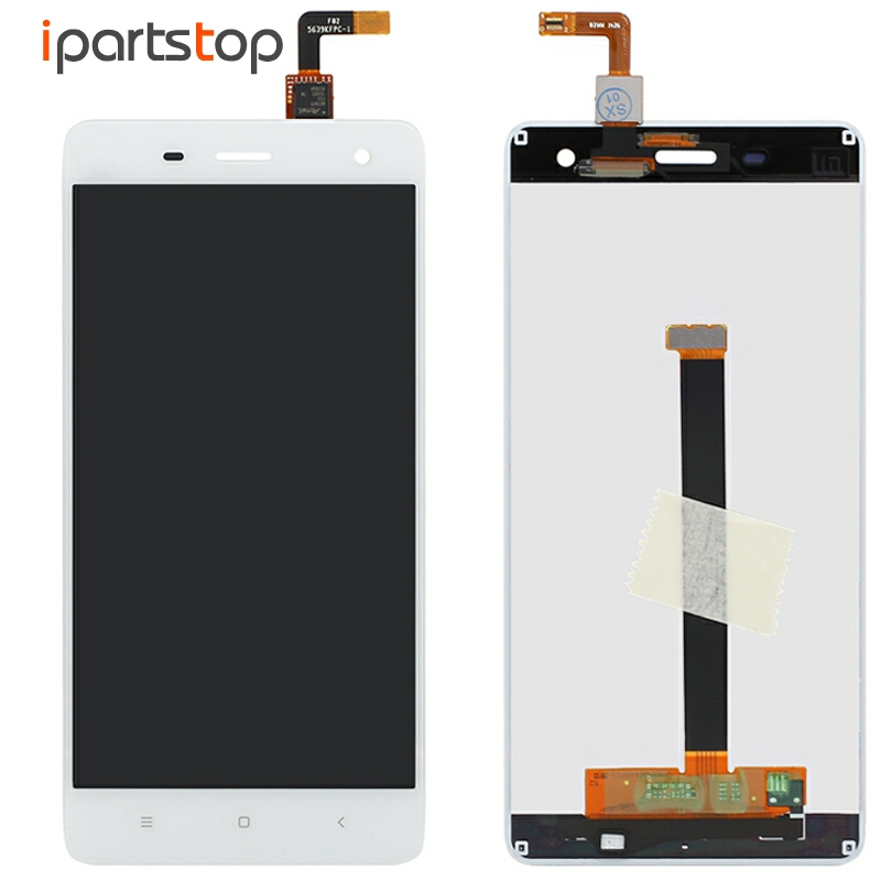 iPartsTop Display For Xiaomi Mi4 Mi 4 Black White LCD Screen Display With Touch Panel Digitizer Full Module Assembly Replacement lcd screen assembly for apple iphone 4 4g lcd display touch screen digitizer pantalla with frame bezel replacement black white