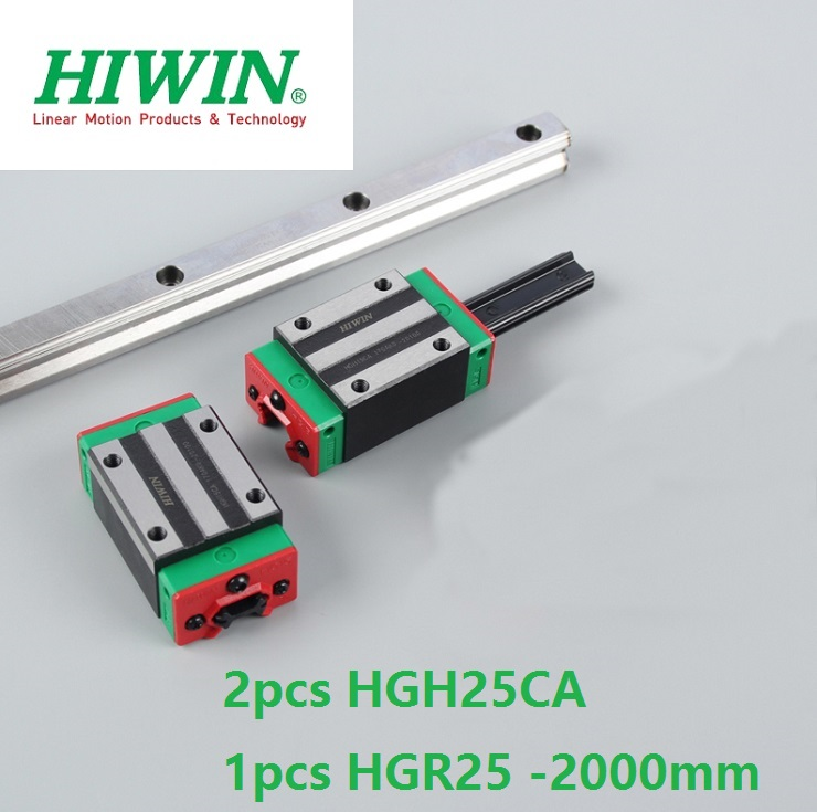 1pcs 100% original Hiwin linear guide linear rail HGR25 -L 2000mm + 2pcs HGH25CA linear square block for cnc router цена