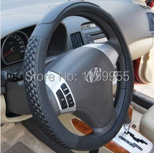 Quality car steering wheel cover leather cover RAV4 highlander IX35 A4 K5 A4 A6 X5 SLK350 S300 car gloves