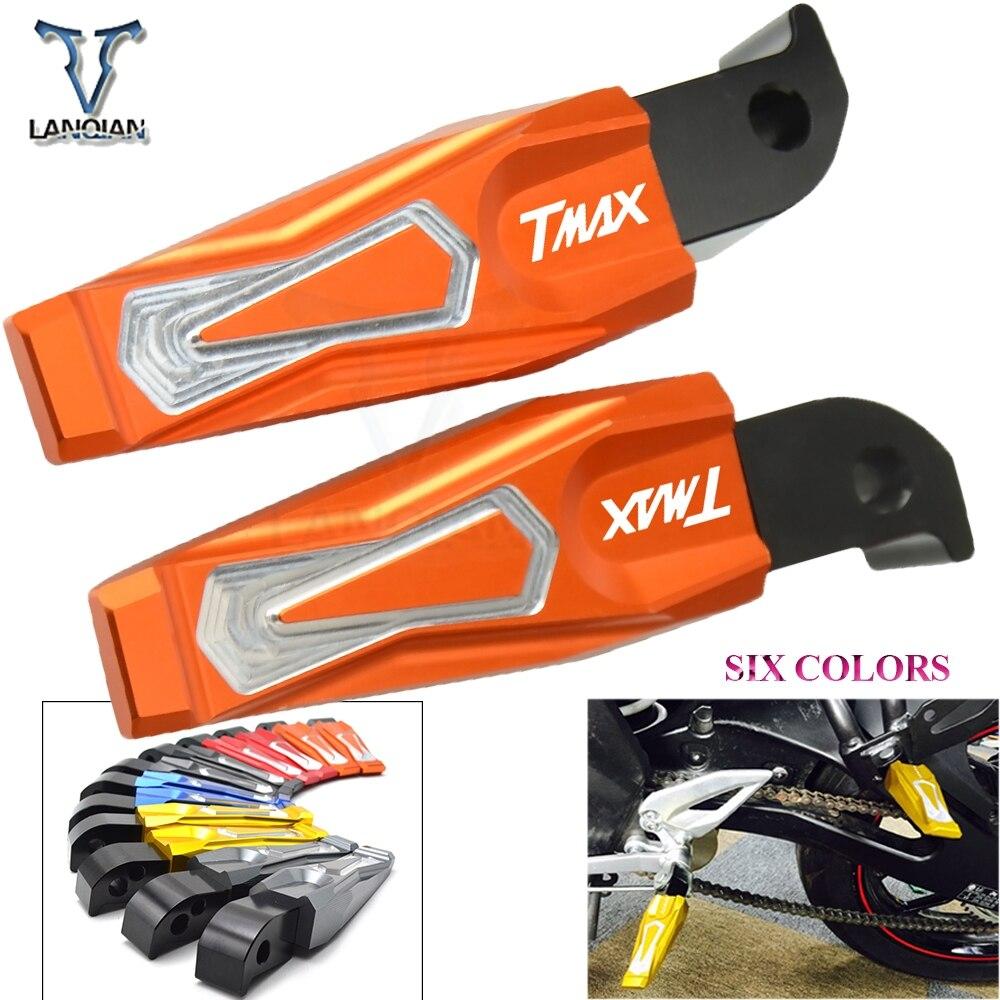 CNC алюминиевые аксессуары для мотоциклов складные Задние подножки задние пассажирские педали для ног YAMAHA логотип tmax