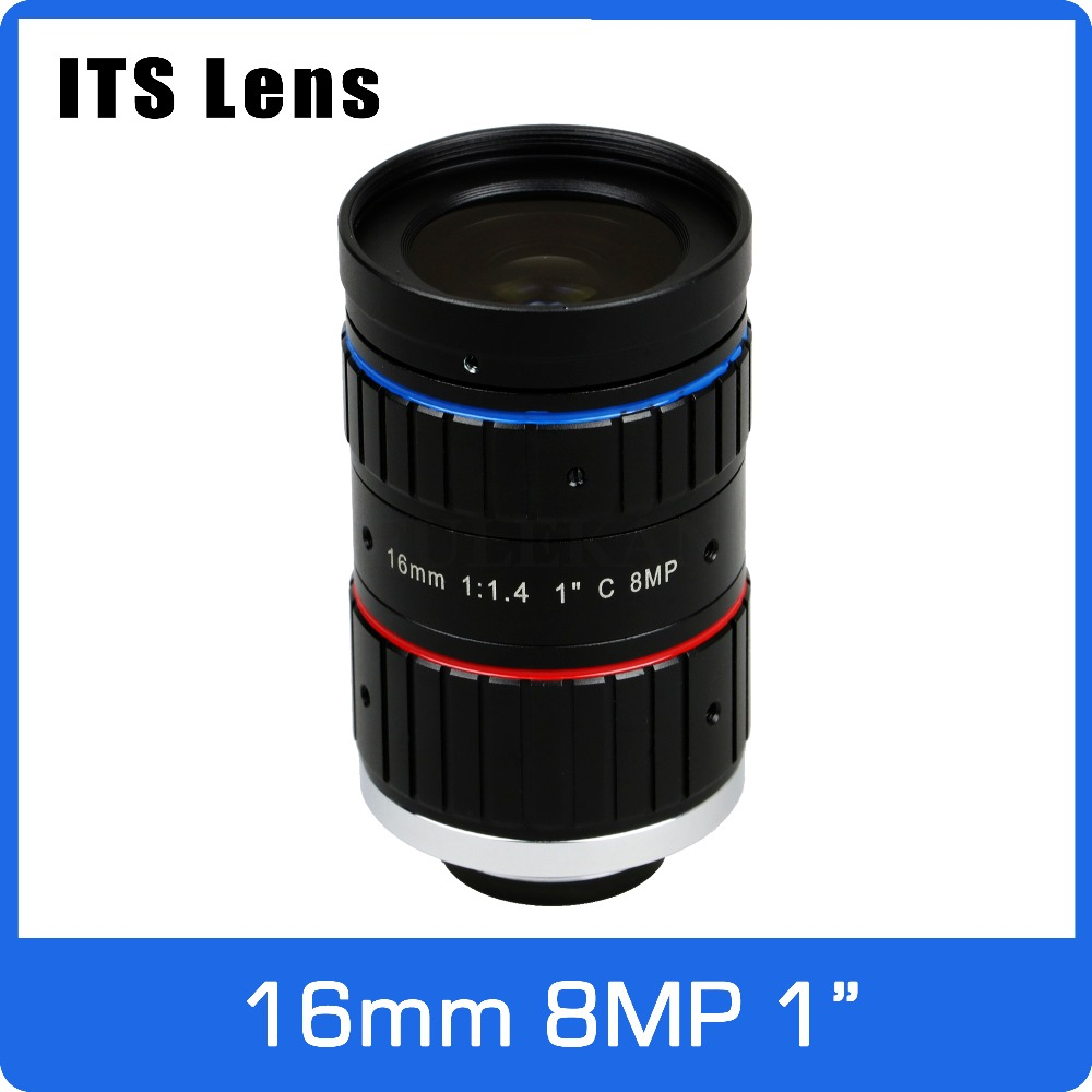 1 inch 8MP ITS Lens 16mm  Ultra Starlight F1.4 C Mount For Electronic Police or Traffic Camera1 inch 8MP ITS Lens 16mm  Ultra Starlight F1.4 C Mount For Electronic Police or Traffic Camera