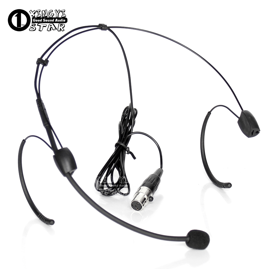 High Quality Black Wired Microphone Condenser Headset Teacher Show Microfone For Shure Wireless System Mini Xlr 4pin Microkone Consumer Electronics