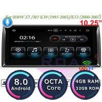 Roadlover Android 8,0 автомобиля мультимедийный плеер для BMW X5 M5 E39 1995 2003 E53 (2000 2007) стерео gps навигации радио 2 Din NO DVD