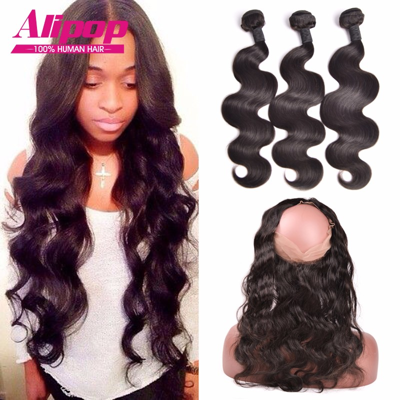 Pre-Plucked-360-Lace-Frontal-Closure-With-Bundles-Brazilian-Body-Wave-With-Closure-360-Lace-Frontal